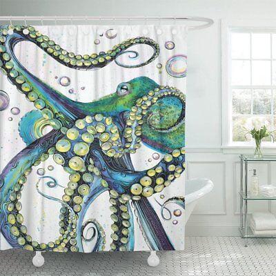 Emvency Shower Curtain Vintage Colorful Fashion Octopus Pain