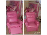 Girls recliner chair