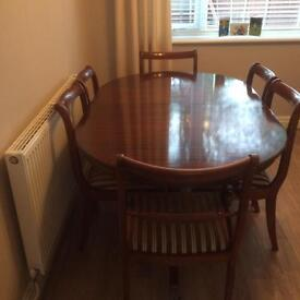 Dark wood dining room table & Chairs - sensible offers accepted