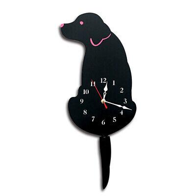 1pc Acrylic Tail Move Labrador Dog Wall Clock Cartoon Animal Decor Silent Watch