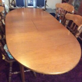 Teak dining table and 6 dining chairs £125 or open to near offer - can separate