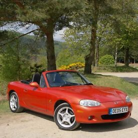 Superb 2005 MX5 Icon 1.8i Limited Edition. One owner, F.S.H., lovely condition.