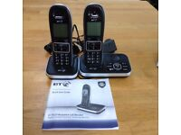 BT Twin Cordless Phone with Answer Machine -BT7610- Excellent Condition