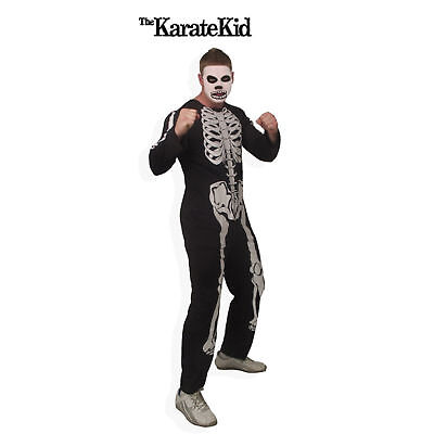 Adult Movie The Karate Kid Cobra Kai Skeleton Gang Jumpsuit Halloween - The Karate Kid Kostüm