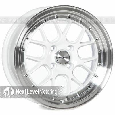Circuit Performance CP27 15x7 4-100 +35 White Wheels Rims (SET OF 4) Stance