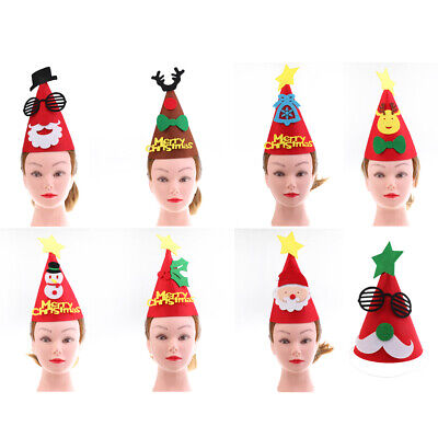 Novelty Christmas Themed Felt Cone Hat Xmas Holiday Party Gift For Kids Adult](Christmas Party Themes For Adults)