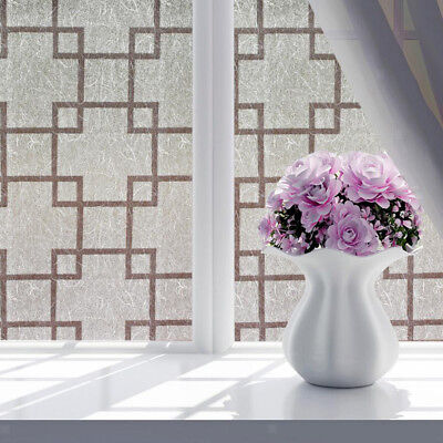 Frosted Sliding Glass Doors - Classic Frosted Window Privacy Film Sliding Glass Door Vinyl Decals 45cmx2m