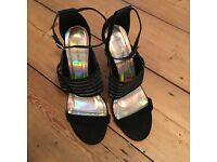 Jessica Wright Black Strap Heels