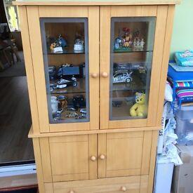 Furniture Village Beech Display Cabinet