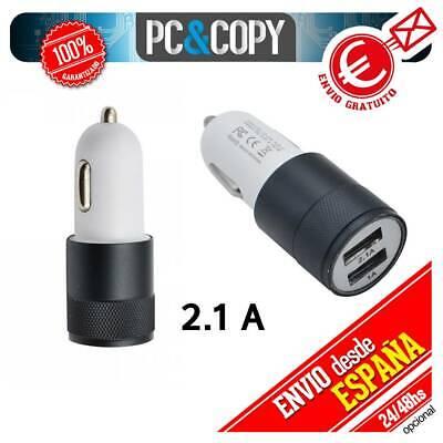 S547 Cargador dual mechero de coche para movil tablet 2.1A-1A doble USB...
