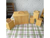 Tea/Coffee/Sugar and Utensils Containers & Bread Bin