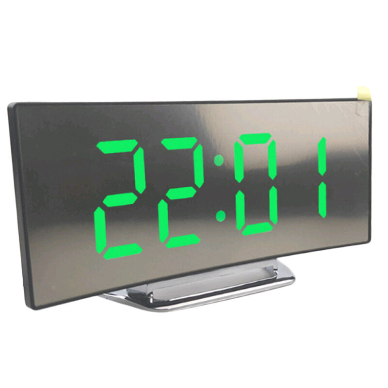 LED+Display+Alarm+Clock+Digital+Projection+Clock+with+12%2F24+Hours+Clock-Green
