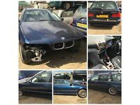 BMW 528I Touring 1998 Blue Auto doors wing all parts available