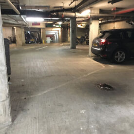 Parking spot for let in secure gated underground garage.