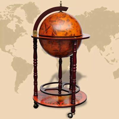 Gebruikt, vidaXL Globebar Hout Wereldbol Wereldbolkar Drankbar Globe Bar Drankenhouder tweedehands  Nederland