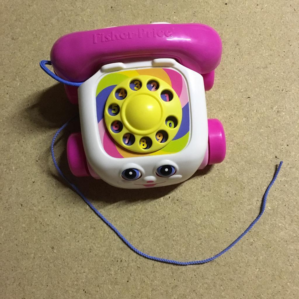 Pink Fisher Price phone