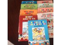 Selection of Noddy Books dating back to 1950's