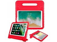 """Apple iPad 9.7"""" - Stand Protective Shockproof Cover - Red / Pink"""