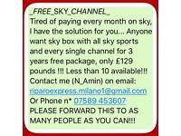 FREE SKY CHANNELS