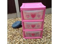 3tier storage boxes good condition nice for any girls things ,,