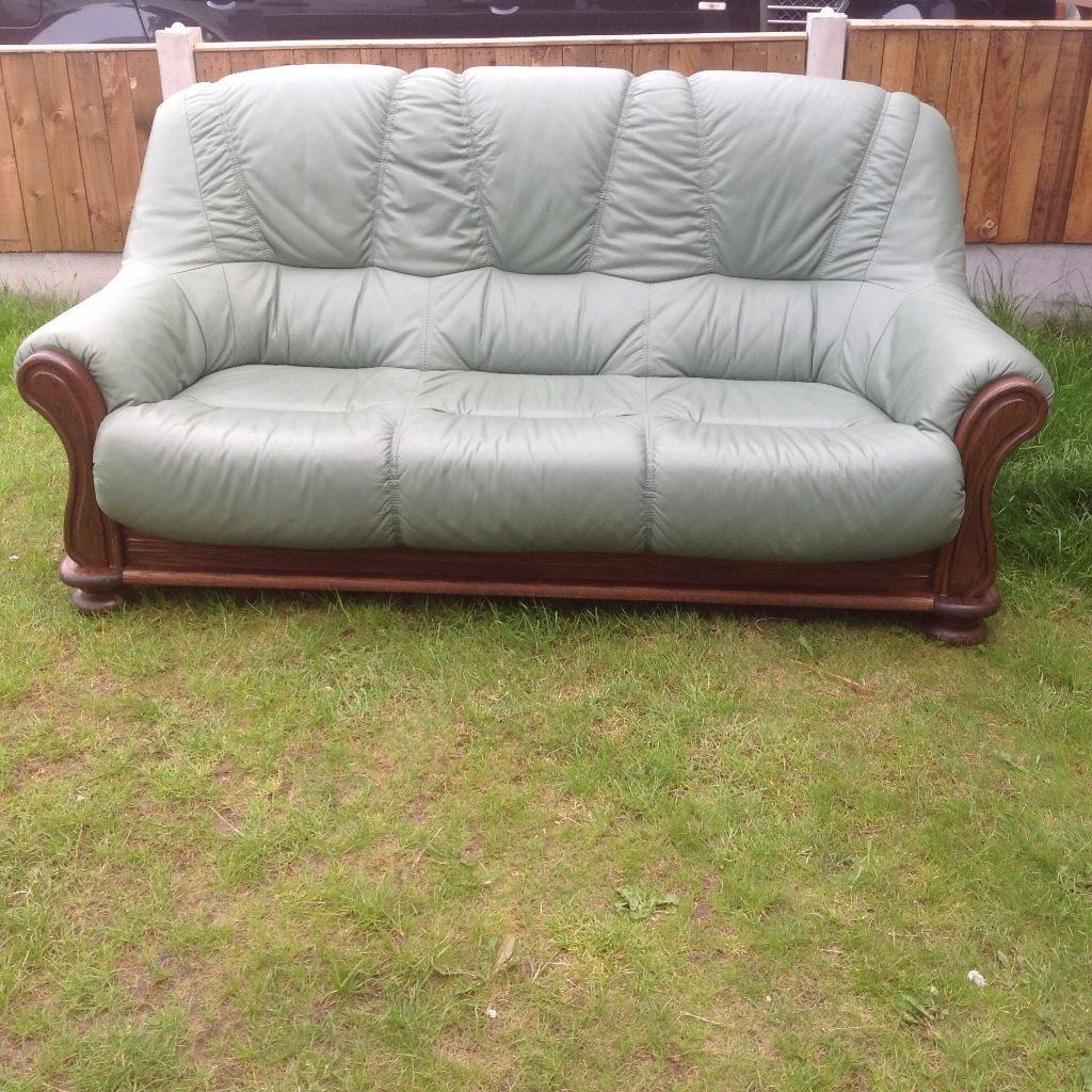 Leather Sofas Gloucestershire: For Sale Light Green Leather Buy, Sale And Trade Ads