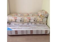 3ft single divan with guest bed