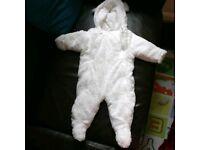 Hooded baby bear winter jumpsuit