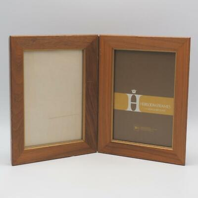 Vintage Wood Double Picture Frame