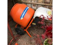 Belle 150 Cement Mini Mixer with Stand 240 volt. Like new. As seen. Good working order