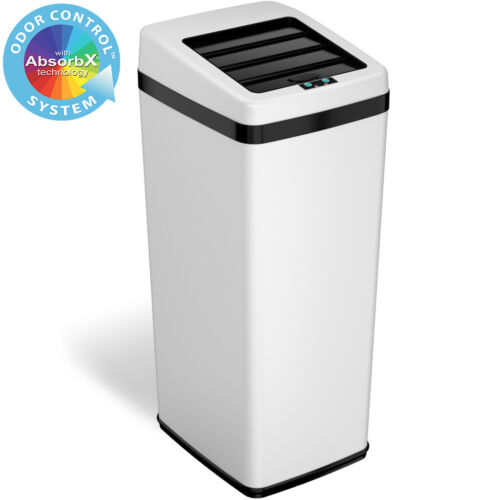14 Gallon Steel Automatic Sensor Touchless Trash Can Home Office Kitchen