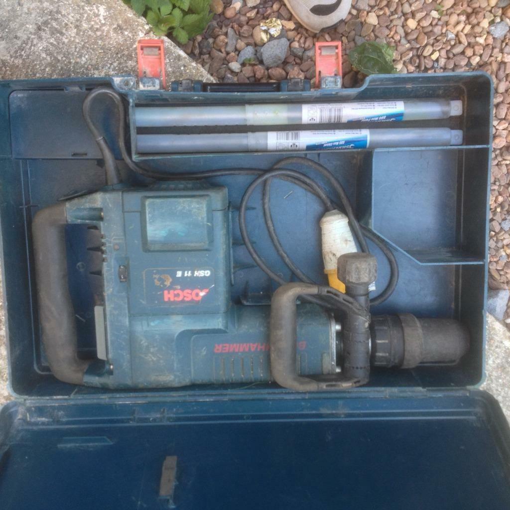 Bosch GSH 11E 110v Electric Breaker (new chisels) | in Poole, Dorset ...