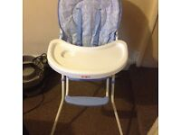 Highchair, only used a handful of times