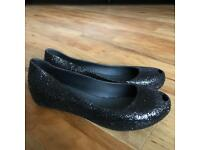 Melissa black sparkle pumps UK 6 / 39