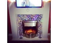 Fireplace, fire with lights