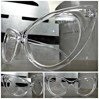 Womens VINTAGE 60's RETRO CAT EYE Style Clear Lens EYE GLASSES Transparent Frame - Cat Eye Frames