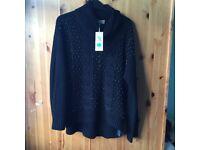 Ladies black NEW Marks & Spencer jumper size 14