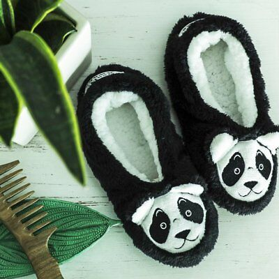 Faceplant Dreams Footsie Slippers BEARLY AWAKE PANDA ~Size  LARGE 9/10 ~NWT~ Panda Bear Slippers