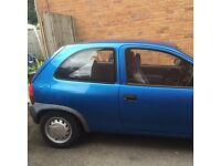 Metallic Blue 1.2 16v Corsa. Cat C writeoff, currently sworn needs MOT to be put back on the road.