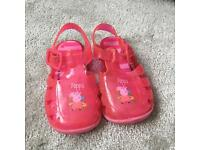 Girls peppa pig jelly sandals size 5 infant