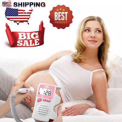 2.0mhz Prenatal Fetal Doppler Baby Monitor Baby Heart Rate Detector Household Us