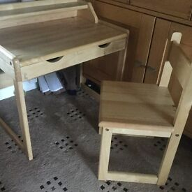 CHILDRENS DESK WITH CHAIR