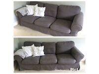 IKEA dark gray Ektorp 3 seater sofa