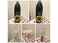 Bundle of hairdressing products (proxide,bleach powder,mousse,better blonde shampoo(purple shampoo)