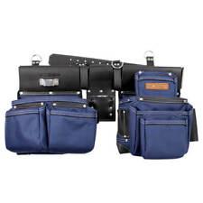 BOSSA 27277 17-Pocket 4-Piece Grain Leather Combo Pouch