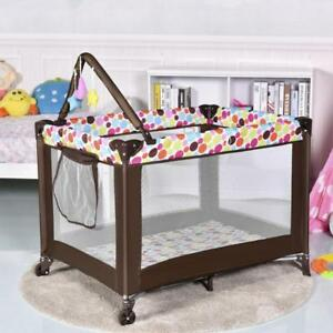 Playard Baby Crib Bassinet Travel Portable Bed Playpen Infant Toddler Foldable - BRAND NEW - FREE SHIPPING