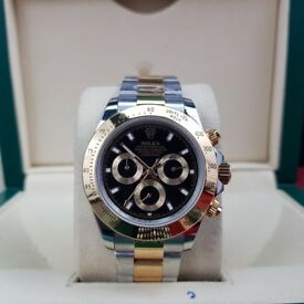 Complete Package bi strap black face ceramic bezel Rolex Daytona automatic sweeping