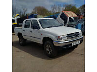Toyota Hilux D4D 2.5 TD 4X4 double cab pick up. Air Conditioning.