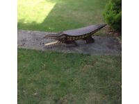 Wooden ornate crocodile