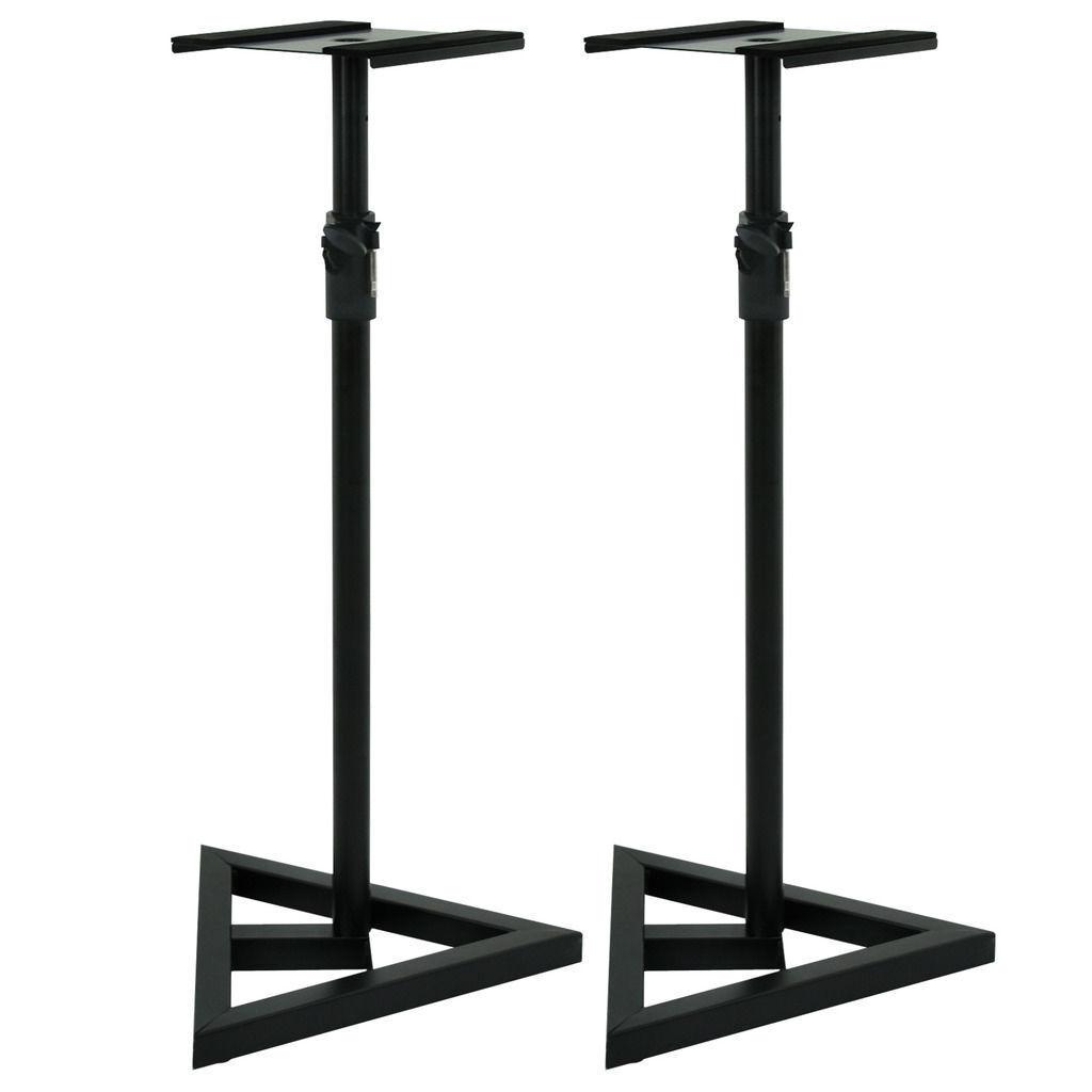2 studio monitor speaker stand adjustable height
