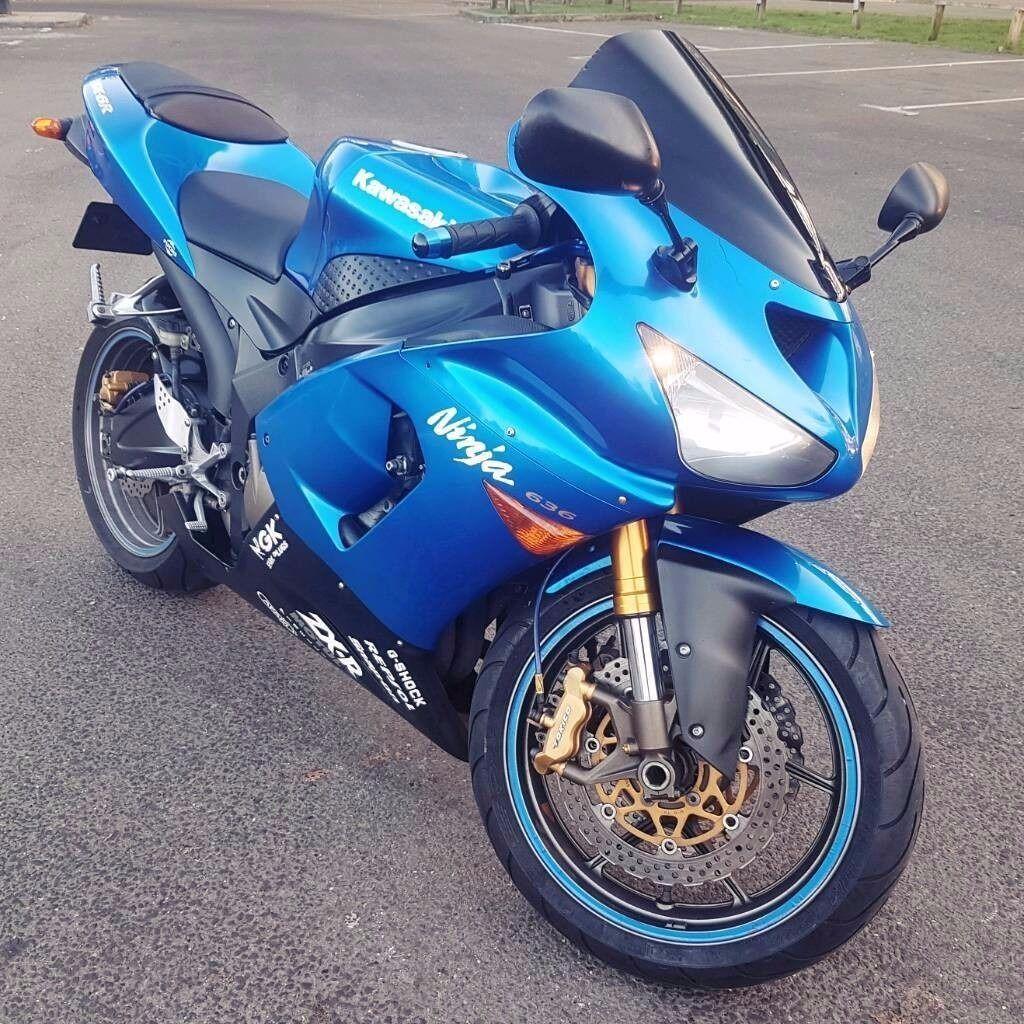 Kawasaki Ninja ZX 636 Blue - like yamaha r6 suzuki gsxr honda cbr 600cc  zx6r supersport